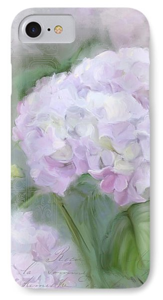 Lavender Hydrangea Romantic Garden IPhone Case