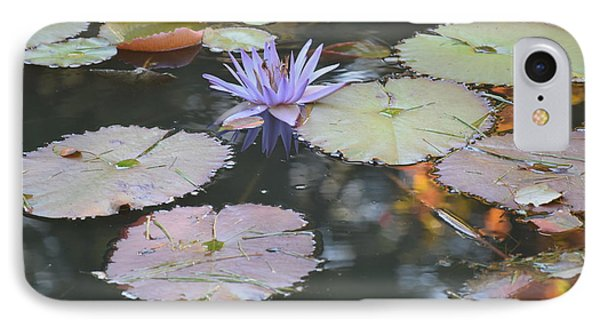 Lavender Lily And Autumn Reflection IPhone Case by Dawn Richerson