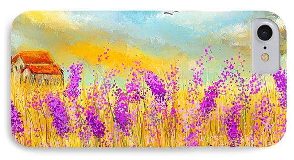 Lavender Memories - Lavender Field Art IPhone Case
