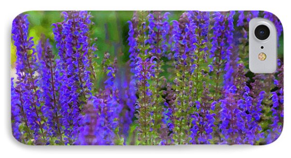 IPhone Case featuring the digital art Lavender Patch by Chris Flees