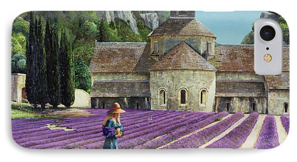 Lavender Picker - Abbaye Senanque - Provence Phone Case by Trevor Neal