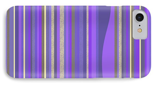 IPhone Case featuring the digital art Lavender Random Stripe Abstract by Val Arie
