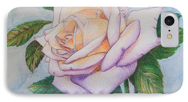Lavender Rose IPhone Case by Marna Edwards Flavell