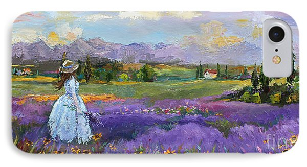 IPhone Case featuring the painting Lavender Splendor  by Jennifer Beaudet