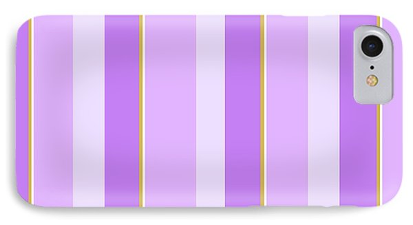 IPhone 7 Case featuring the mixed media Lavender Stripe Pattern by Christina Rollo