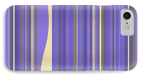 IPhone Case featuring the digital art Lavender Twilight - Stripes by Val Arie