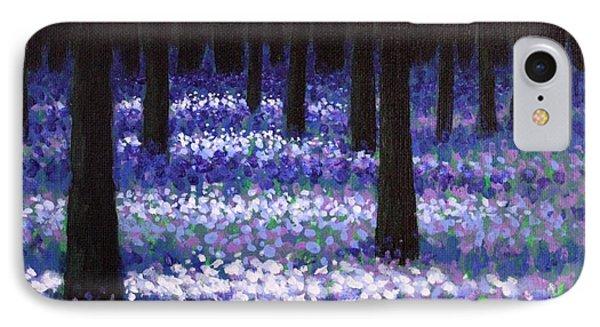 Lavender Woodland Phone Case by John  Nolan