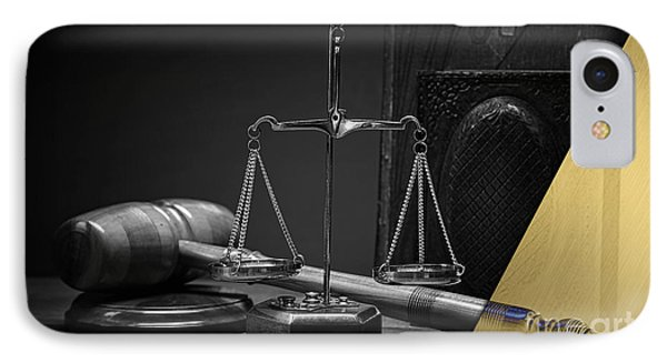 Law Office And Judge Collection IPhone Case by Marvin Blaine