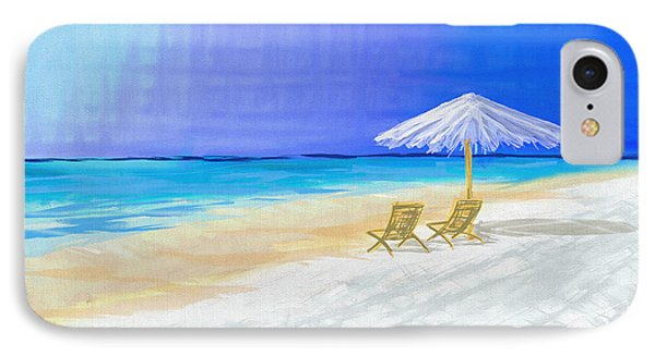 Lawn Chairs In Paradise IPhone Case by Jeremy Aiyadurai