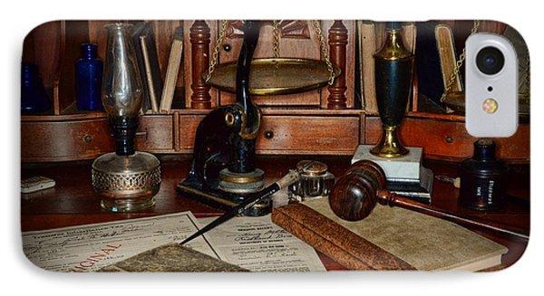 Lawyer - A Lawyers Desk IPhone Case by Paul Ward