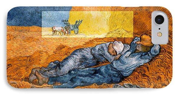 Layered 14 Van Gogh IPhone Case by David Bridburg