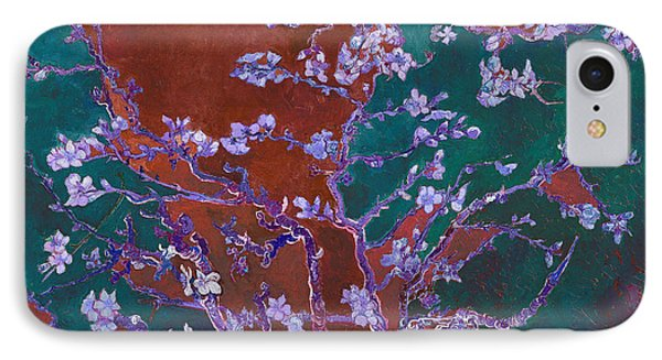 Layered 2 Van Gogh IPhone Case by David Bridburg