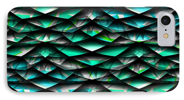 Layers Abstract IPhone Case by Barbara Moignard
