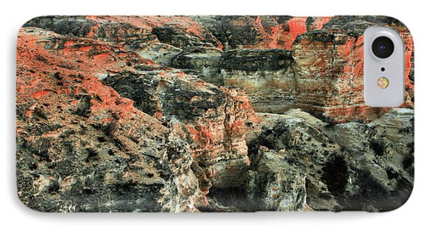 IPhone 7 Case featuring the photograph Layers In The Kansas Badlands by Kyle Findley