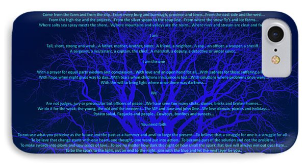 Layers Of Blue IPhone Case by Cliff Ball