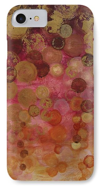 Layers Of Circles On Red IPhone Case by Kristen Abrahamson