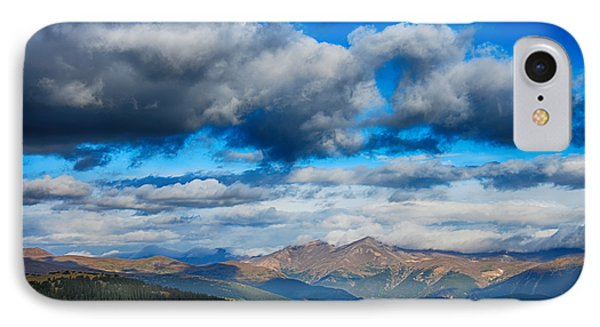 Layers Of Clouds On Mount Evans IPhone Case by Angelina Vick