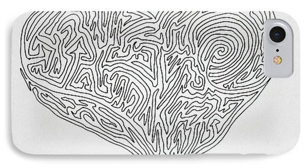 Laying Your Heart On A Line  IPhone Case by Vicki  Housel