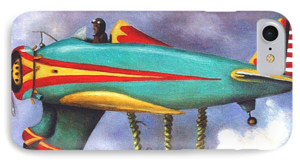 Lazy Bird Plane Detail Phone Case by Leah Saulnier The Painting Maniac