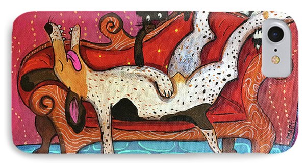 IPhone Case featuring the painting Lazy Coonhound by Marti McGinnis