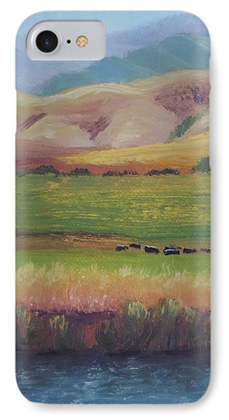 Lazy Grazing  IPhone Case by Margaret Bobb
