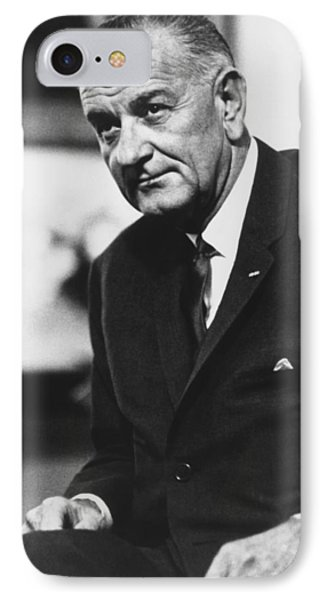 Lbj  IPhone Case by War Is Hell Store
