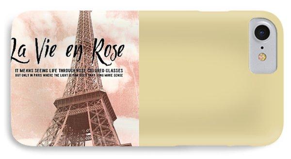 Le 58 Tour Eiffel Quote Phone Case by JAMART Photography