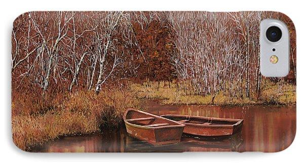 Le Barche Sullo Stagno IPhone Case by Guido Borelli