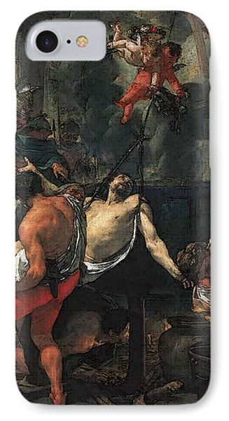 Le Brun Charles Martyrdom Of St John The Evangelist At Porta Latina IPhone Case