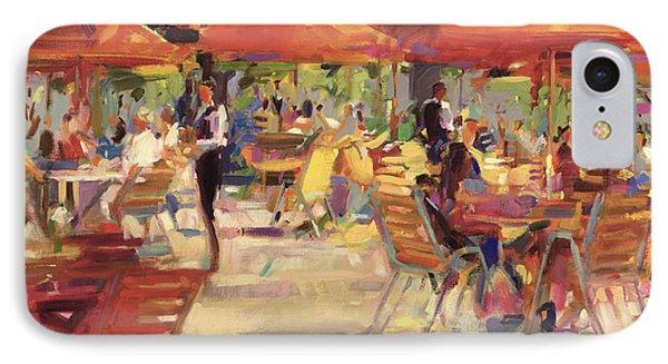 Le Cafe Du Jardin  IPhone Case by Peter Graham