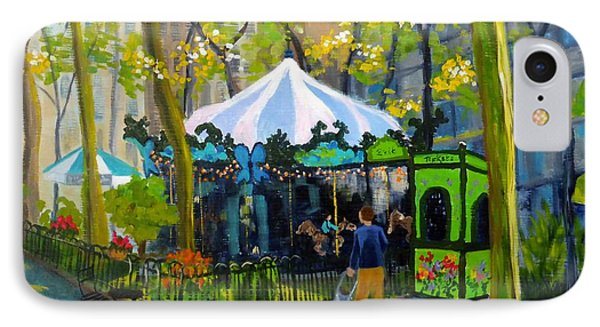 Le Carrousel In Bryant Park IPhone Case by Diane Arlitt