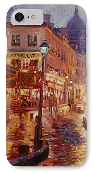 Le Consulate Montmartre IPhone Case by David Lloyd Glover