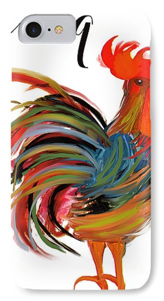 Le Coq Art Nouveau Rooster IPhone 7 Case by Mindy Sommers
