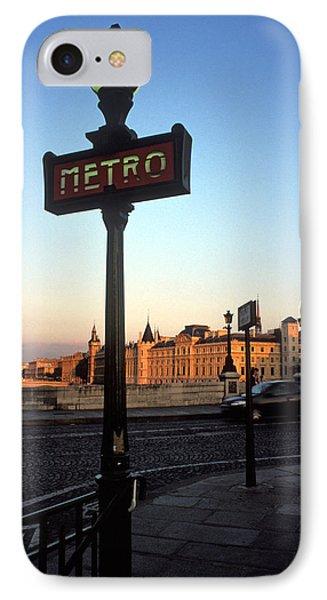 Le Metro At Dusk IPhone Case by Kathy Yates