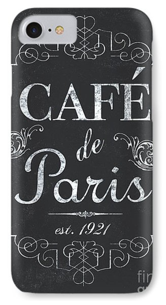 Paris iPhone 7 Case - Le Petite Bistro 3 by Debbie DeWitt