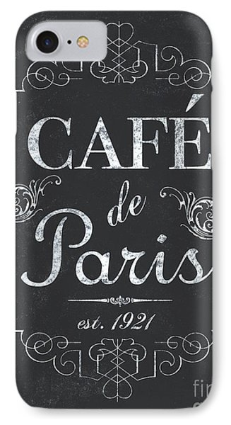 Le Petite Bistro 3 IPhone Case by Debbie DeWitt