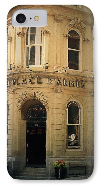 Le Place D' Armes Hotel  IPhone Case by Maria Angelica Maira