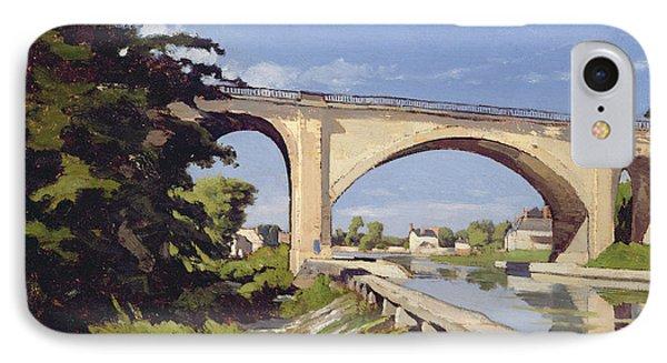 Le Pont Canal A Briare Phone Case by Henri Joseph Harpignies