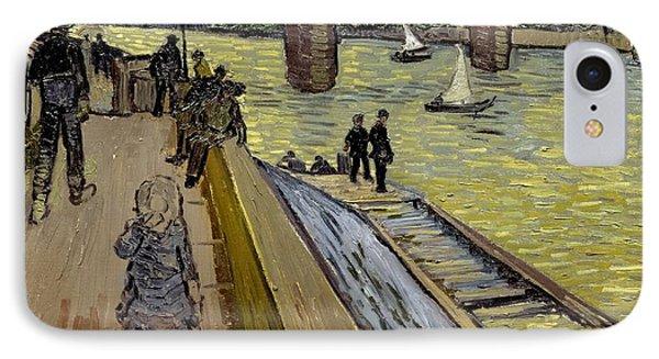 Le Pont De Trinquetaille In Arles Phone Case by Vincent Van Gogh