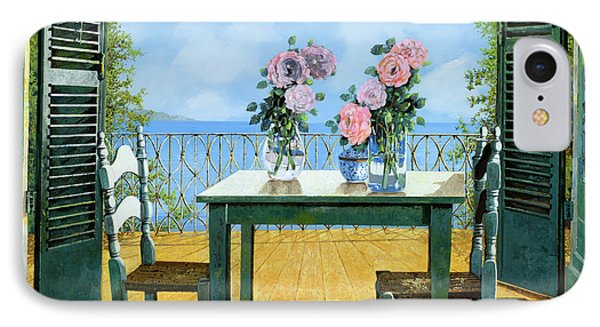 Le Rose E Il Balcone IPhone Case by Guido Borelli