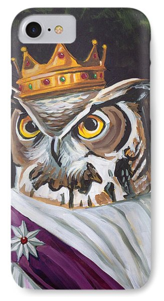 Le Royal Owl IPhone Case by Nathan Rhoads