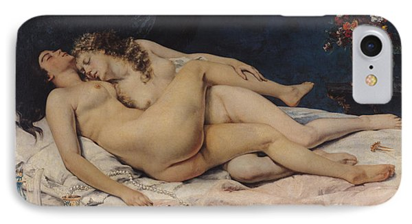 Le Sommeil IPhone Case by Gustave Courbet