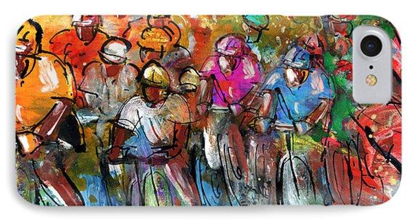 Le Tour De France Madness 03 IPhone Case by Miki De Goodaboom