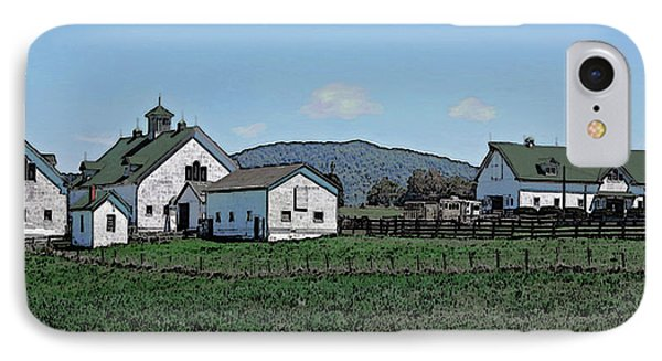 Lea Homestead Phone Case by DigiArt Diaries by Vicky B Fuller