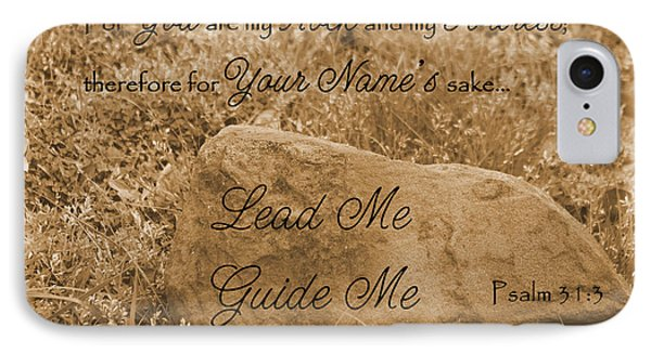 Lead Me Guide Me Psalm 31 Phone Case by Robyn Stacey