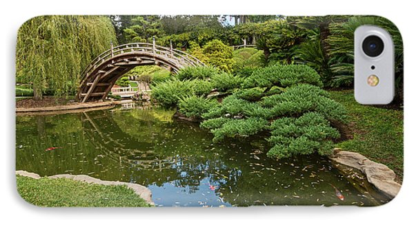 Garden iPhone 7 Case - Lead The Way - The Beautiful Japanese Gardens At The Huntington Library With Koi Swimming. by Jamie Pham