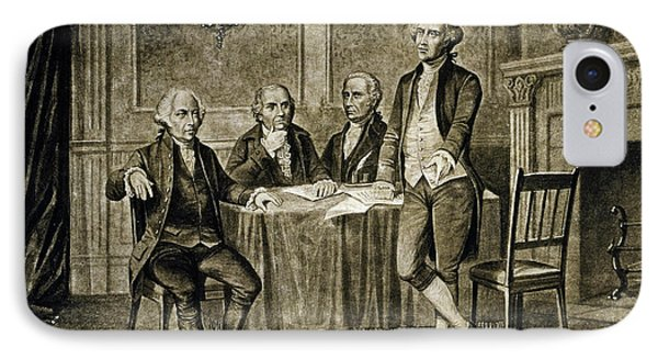 Leaders Of The First Continental Congress IPhone Case by Augustus Tholey