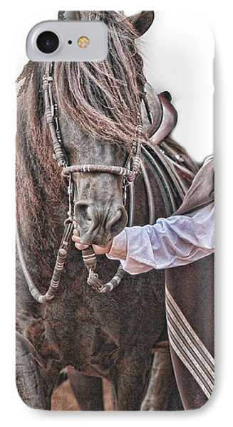 IPhone Case featuring the photograph Leading To Competition Peruvian Horse by Toni Hopper
