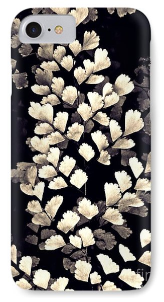 Leaf Abstract 15 Sepia IPhone Case by Sarah Loft