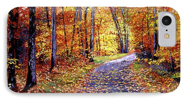Leaf Covered Road IPhone Case